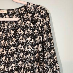Pixley Tops - Pixley Elephant Printed Top Size XL